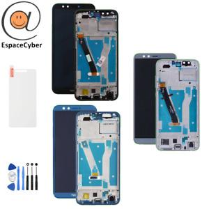 Ecran LCD + Vitre tactile Honor 9 Lite sur châssis frame Noir Bleu Gris LLD-L21