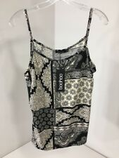 BOOHOO PLUS WOMEN'S URALIA MIXED PRINT CAMI BLACK/OFF WHITE UK:20/US:16 NWT