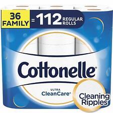 Cottonelle Ultra CleanCare Toilet Paper, Strong Bath Tissue, Septic-Safe, 36 Fam