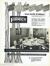 PUBLICITE ADVERTISING  026  1958  Formica  meubles salle à manger Jacques Dumond
