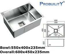 550mm x 400mm Stainless Steel Home Commercial Kitchen Laundry Under Mount Sink