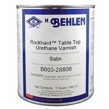Behlen Rockhard™ Table Top Varnish, Quart, Satin Finish (B603-28406)