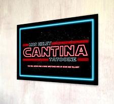 Star Wars Cantina Tatooine Mos Eisley Film Inspiré métal A4 SIGNE