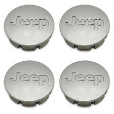 Set 4 OEM 02 03 04-11 Jeep Liberty Grand Cherokee Wrangler Center Caps Hubcaps