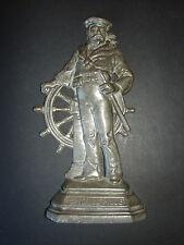 Antique Pewter Britain's Pride Sailor Navy Maritime Doorstop RARE