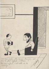 """""""LA CONCIERGE"""" Dessin à l'encre de Chine par E. LENOIR (années 30)"""
