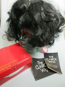 Vintage The Clairol Wig Model #470 Chestnut Black #4 Dynel Modacrylic 1970 NIB