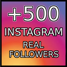 500 REAL FOLLOWERS |BEST QUALITY|