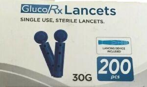 Gluco Rx lancets 200s