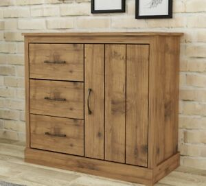 Compact Sideboard Side Table Cabinet Storage Unit