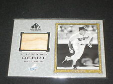 STEVE SAX DODGERS 2001 UD SP DEBUT CERTIFIED AUTHENTIC GAME USED BAT CARD