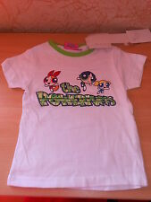 tee-shirt fille manches courtes LES SUPERNANAS blanc/vert taille 4 ans - neuf