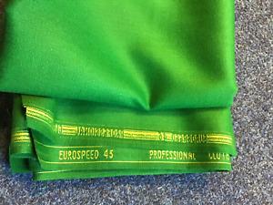 GREEN Pool Table Speed Cloth - Bed & 6  Cushions 7ft x 4ft league pub club nylon