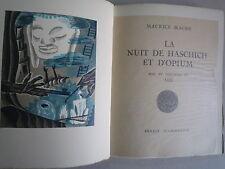 1929 LA NUIT DE HASCHICH ET D'OPIUM DE M MAGRE BOIS COULEURS DE AHÜ CHEZ FLAMMAR