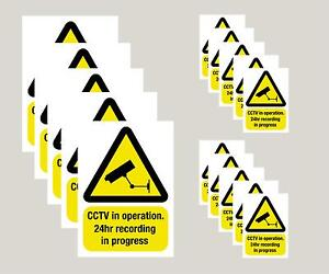 15 Top Quality Screen Printed CCTV Camera Window Stickers -Best Value on ebay
