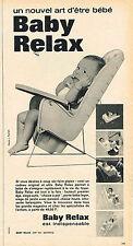 PUBLICITE ADVERTISING 034   1963   BABY-RELAX   siège bébé