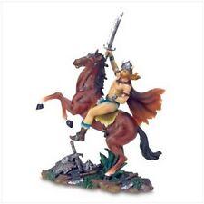 VIKING WARRRIOR War Horse Brown Stallion Statue Figure Gift Dad Father Husband