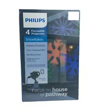 Philips LED Focusable Projector Snowflake Pathway Light Red Green Blue Christmas