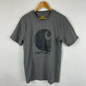 Carhartt Mens T-Shirt Small Grey Short Sleeve Crew Neck Relaxed Fit Logo