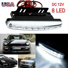 1PC White 8 LED Daytime Driving Running Light DRL Car Fog Lamp Waterproof DC 12V