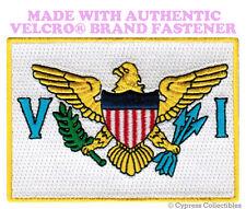 US VIRGIN ISLANDS FLAG PATCH St John Thomas Croix USVI w/ VELCRO® Brand Fastener