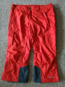 EUC Men's Columbia Omni Heat Ski Snowboard Pants Size 2XL XXL Color Orange