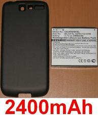 Black Case+Battery 2400 MAH Type BA-S410 BAS410 for HTC A8181