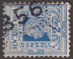 NSW numeral postmark 356(1) of WOODHOUSELEE [rated 5R] Type 2R35 (5.5 x15mm)