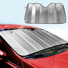 Foldable Car Windshield Sun Visor Cover Front Rear Block Sun Shade Silver Coated