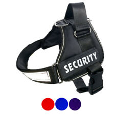 Dog Large Padded Soft Vest Harness Heavy Duty Adjustable Collar Removable Patch
