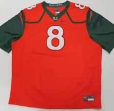Nike University of Miami Football Jersey #8 Mens Xxxl Orange 3Xl