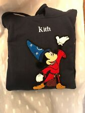 Kith x Disney Fantasia 40s Mickey Navy Hoodie Size Large L