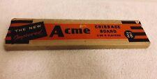 Vintage Acme Cribbage Board 1950's Vintage Game