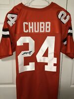 Nick Chubb Autographed Custom Cleveland Browns Jersey