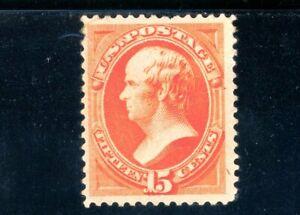 USAstamps Unused FVF US 1873 Bank Note Webster Scott 189 OG MHR