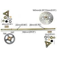 ATV Quad Bike Buggy GoKart Rear Axle Complete Assembly Kit Carrier Wheel Hub Kit