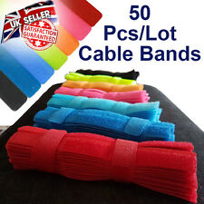 50 Pcs/Lot - Reuseable Hook & Loop Cable Ties/Bands