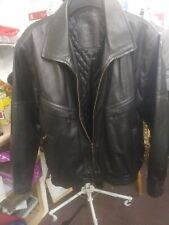 """Mens Milan Leather Black Leather Jacket Size Large 46/48"""" Chest"""