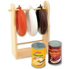Wurstständer Wurst für Kaufladen Kinderküche Spielküche Kaufmannsladen Zubehör