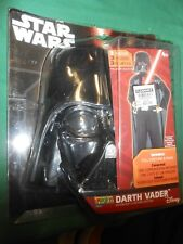 """NEW- STAR WARS """"Darth Vader"""" Action Suit Costume 3 Piece with Mask-Sizes 810"""