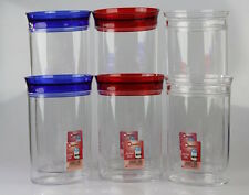 High Quality Metaltex 6pc Aroma Storage Set Plastic Food Storage Canisters Jar's