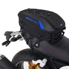 """BAGSTER """"SPIDER"""" MOTORCYCLE SEAT BAG - 23 LTR - BLACK/BLUE - WEB MOUNT SYSTEM"""