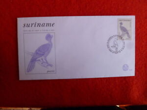 SURINAME  5g BLACK CURASSOW BIRD  FDC 10 JAN  1979