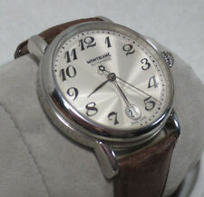 Montblanc 7042 Men Stainless Steel leather classic Automatic Watch smooth
