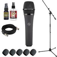 New TELEFUNKEN Elektroakustik M81 Grey Dynamic Microphone + Free Mic Accessories