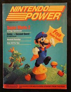 Nintendo Power Magazine 1988 First Issue Volume #1 NES Super Mario w Poster Nice