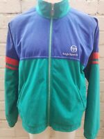 VINTAGE SERGIO TACCHINI Track Top Retro Casual Jacket Size 48 Blue Green Red