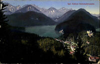 1917 Stempel Hohenschwangau auf AK Königliches Schloss Feldpost nach Altona