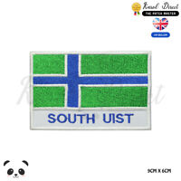 SOUTH UIST Scotland County Flag With Name Embroidered Iron On Sew On Patch Badge