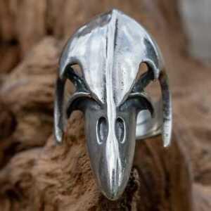 Odin's Raven Skull 925 silver Ring Crow Gothic Celtic Biker Viking Thor Wicca